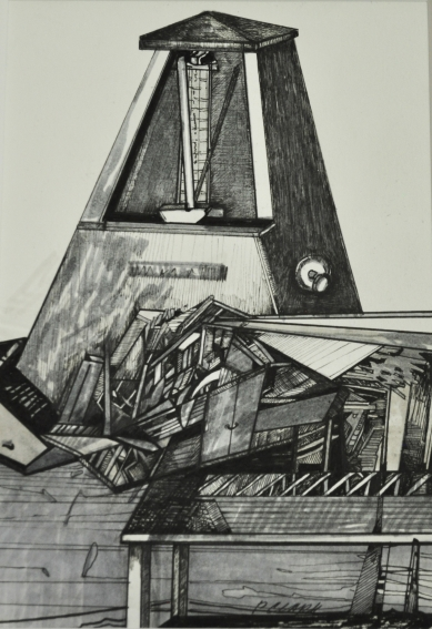 Time Machine 1, Mixed Media Graphite Drawing, 2017