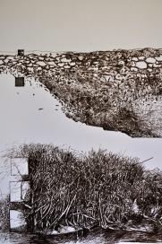 1. Landscape Contrived, Ink on Paper, 2016