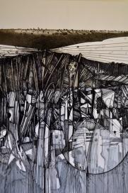 3. Landscape Contrived, Ink on Paper, 2016