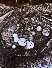 4. Landscape Contrived, Ink on Paper, 2016